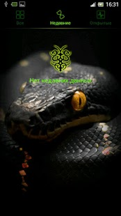 Snakes and Green Neon GO Theme - screenshot thumbnail