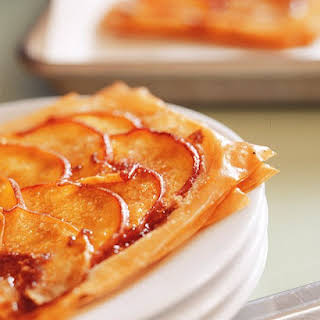 Individual Peach Pastries.