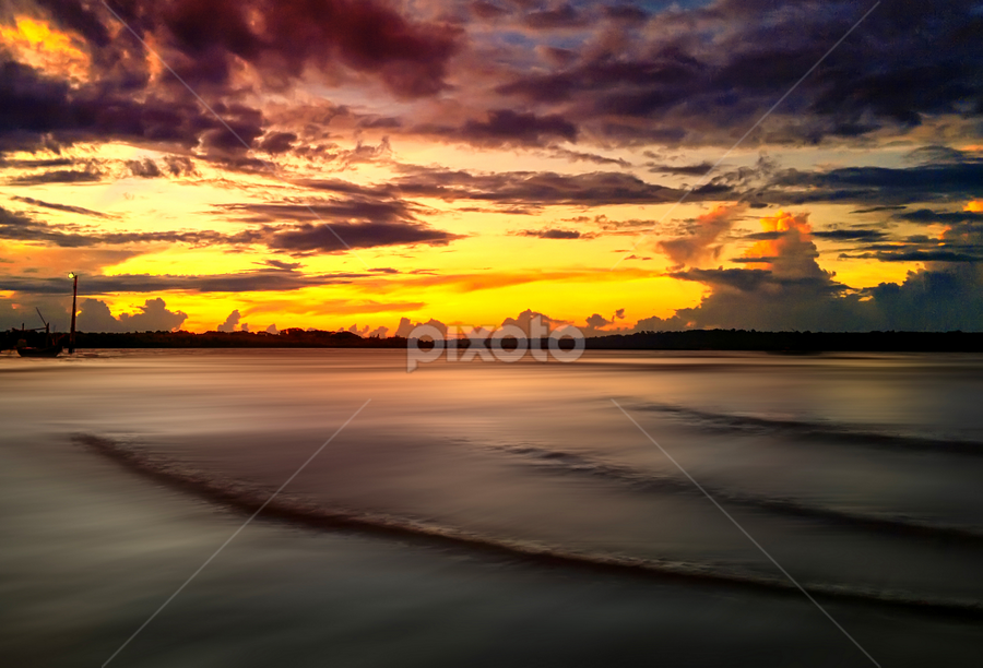 cloudy sky in sunset by Ahmad Sahroni - Instagram & Mobile Other