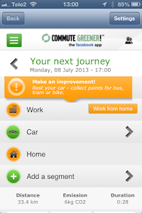 Commute Greener – smarter ways screenshot 0