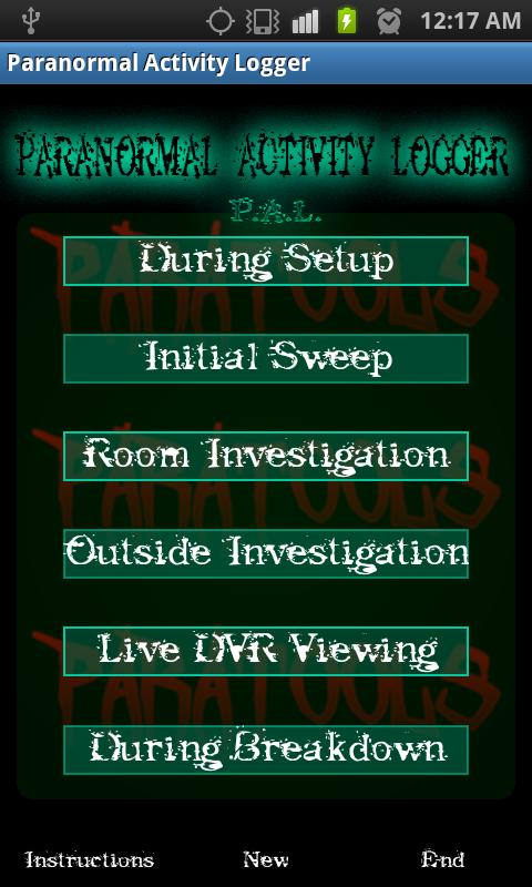 Paranormal Activity Logger- screenshot