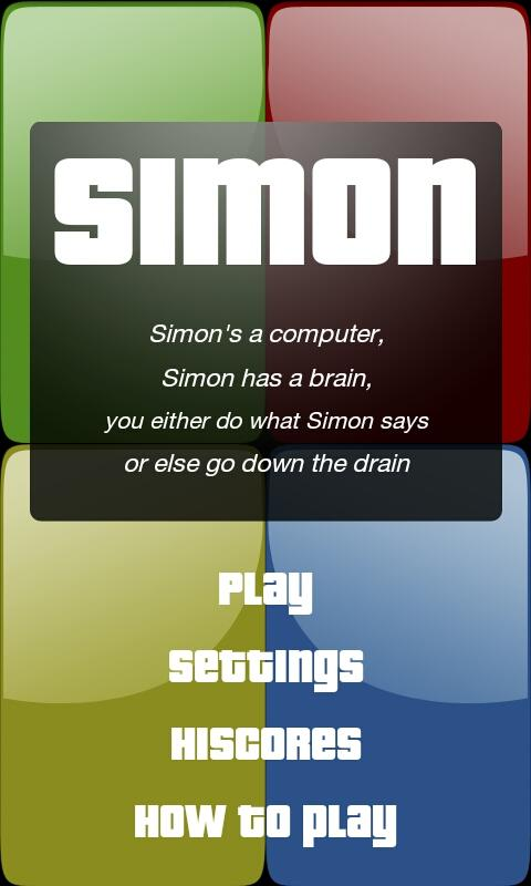 Simple Simon- screenshot