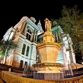 county by Yu Tsumura - Buildings & Architecture Statues & Monuments ( statue, building, county, night, city,  )