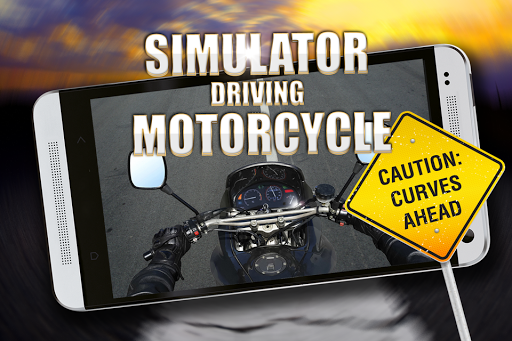 Simulator motorcycle driving