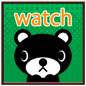 【無料】くま吉くん アナログ時計ウィジェット