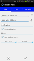 Screenshot of Notable Notes