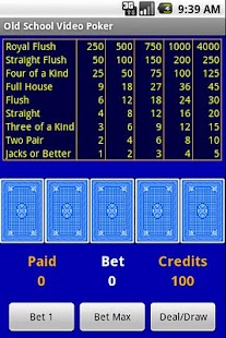 Free Old School Video Poker - screenshot thumbnail