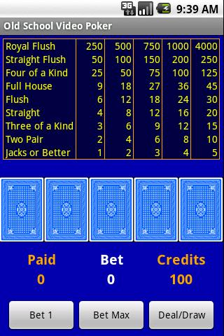 Free Old School Video Poker - screenshot