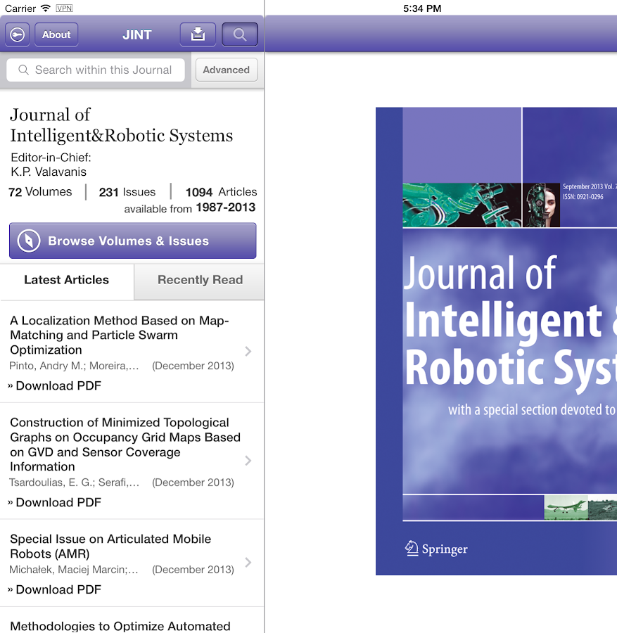 Intelligent and Robotic Syst - screenshot