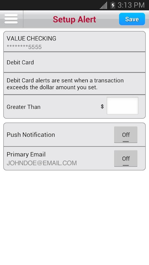 Bank of Albuquerque Mobile - screenshot