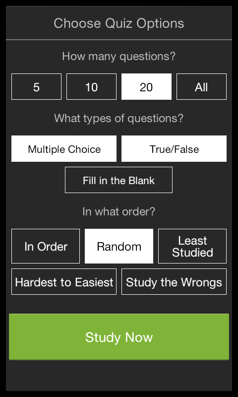 StudyBlue Flashcards & Quizzes - screenshot