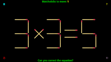 Screenshot of Alamot's Matchstick Puzzles!