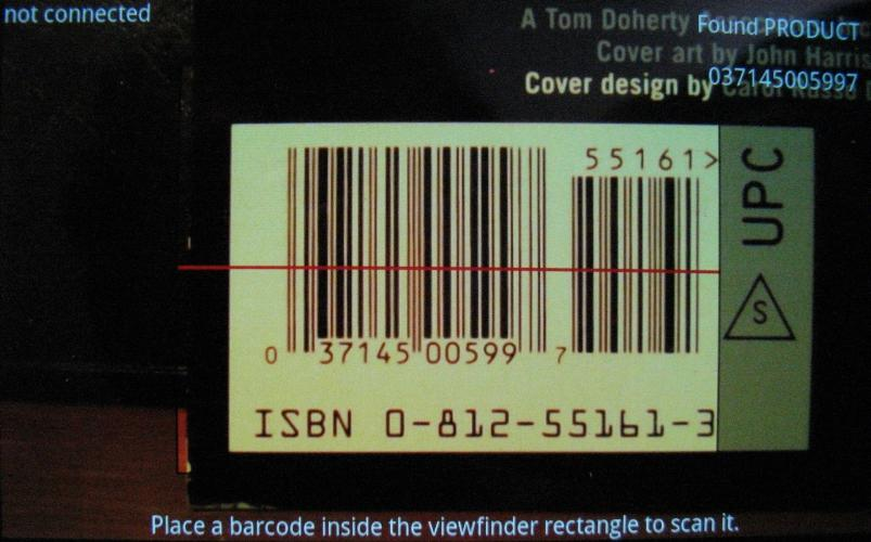 Bluetooth Barcode Scanner- screenshot