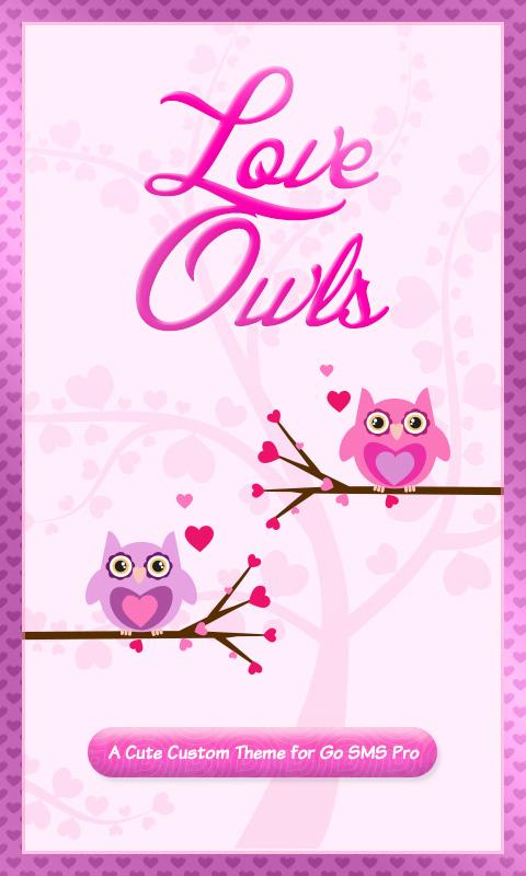 Cute love owls theme go sms android apps on google play cute love owls theme go sms screenshot voltagebd Images