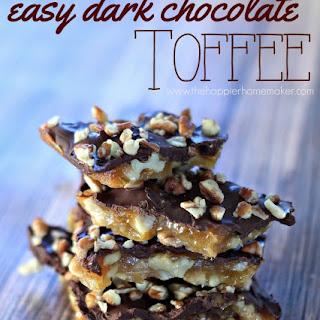 Easy Dark Chocolate Toffee