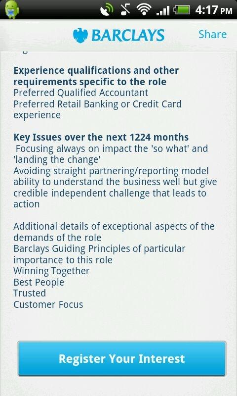 Barclays Jobs- screenshot