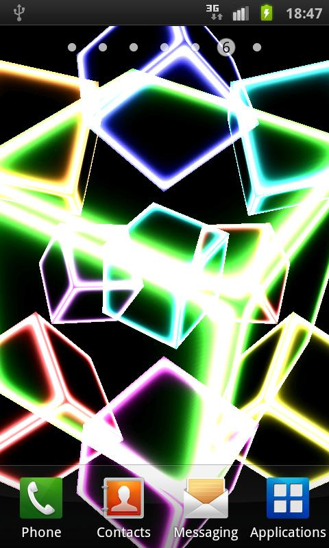 NEON CUBE 3D Live Wallpaper - screenshot