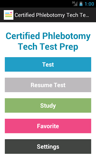 Certified Phlebotomy Test Prep