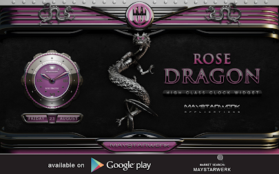 dragon digital clock rose APK screenshot thumbnail 9