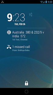 DashClock Cricket Extension - screenshot thumbnail