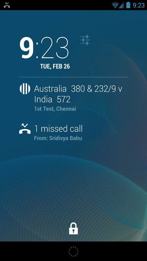 DashClock Cricket Extension - screenshot