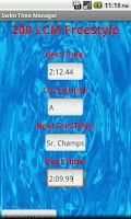 Screenshot of Swim Time Manager