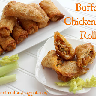 Buffalo Chicken Egg Rolls.