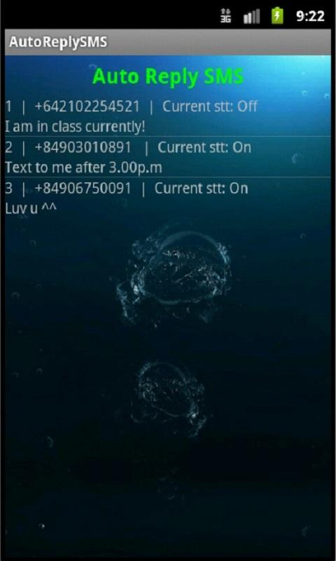 Auto Reply SMS- screenshot