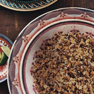 Peruvian Rice and Lentils (Tacu Tacu).