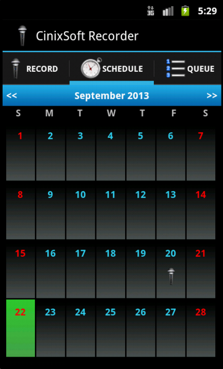 Schedule Voice Recorder - screenshot