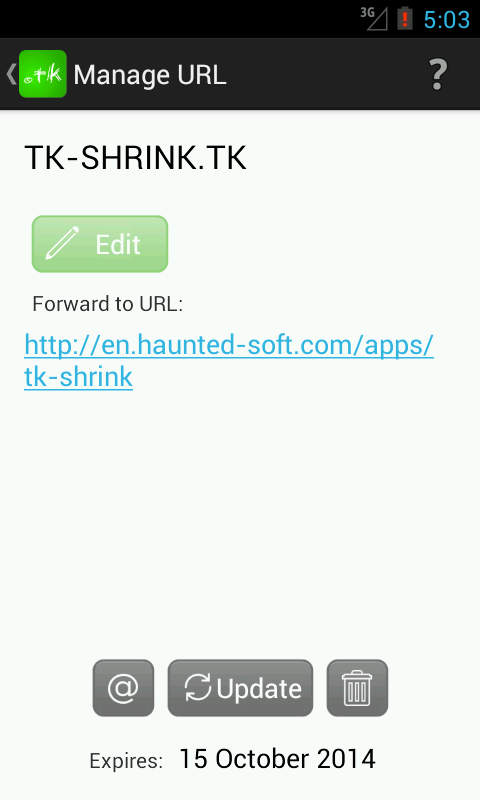TK URL Shrink- screenshot