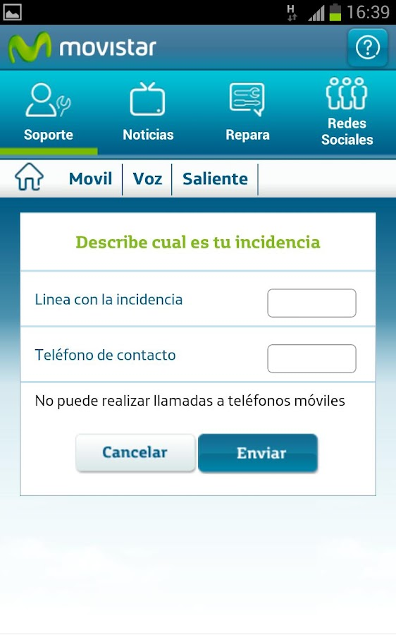 Soporte Movistar - screenshot