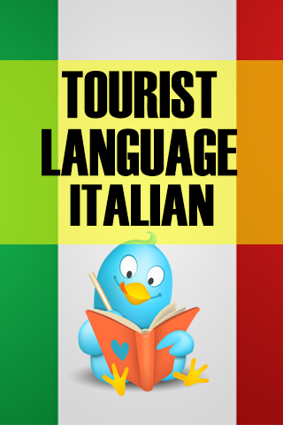 Tourist language Italian