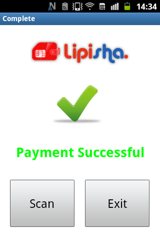 Lipisha NFC - screenshot