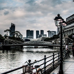 View of Singapore by Lee Miko - City,  Street & Park  Street Scenes