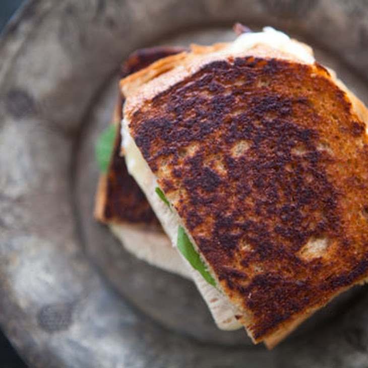 Turkey Grilled Cheese Sandwich with Pickled Onions Recipe