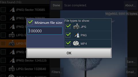 DiskDigger photo recovery Screenshot 24