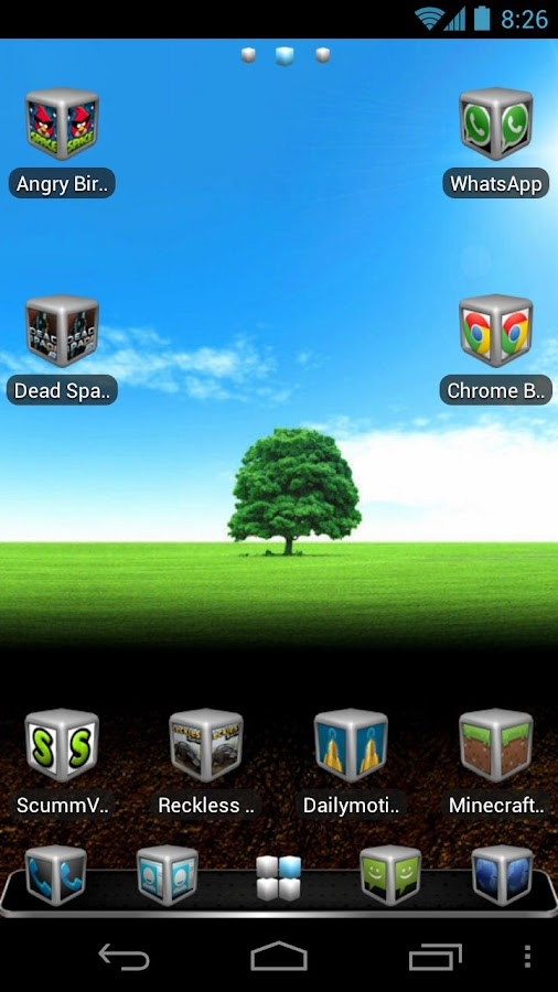 Silver Cube Theme 4 GoLauncher - screenshot