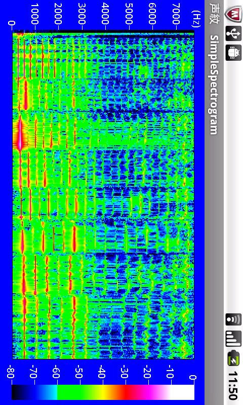 SimpleSpectrogram- screenshot