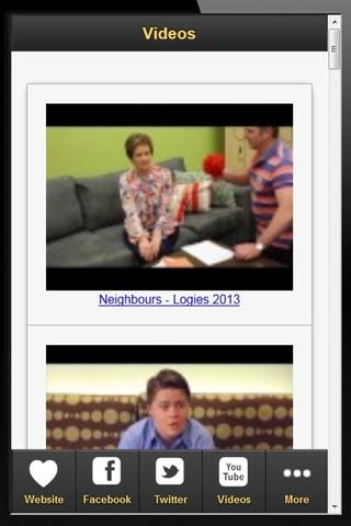 Neighbours Fan App - screenshot