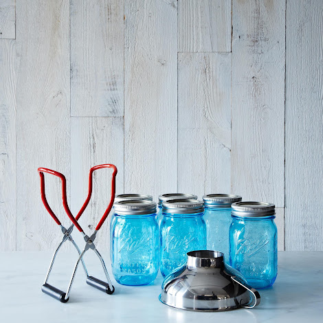 Blue Ball American Heritage Jars (Set of 6) with Canning Lifter & Funnel