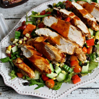 Griled Barbecue Chicken Salad with Smoky Barbecue Vinaigrette