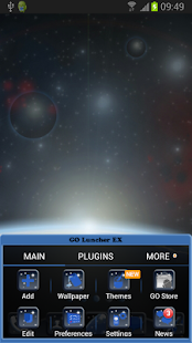 Go Launcher EX Theme Universe - screenshot thumbnail