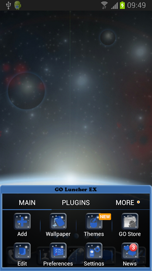 Go Launcher EX Theme Universe- screenshot