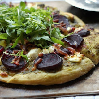 Beetroot And Goat's Cheese Pizza With Rocket