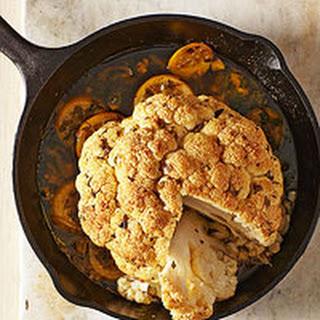 Whole Roasted Cauliflower with Spiced Lemon-Parsley