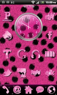 Pink Cheetah for Go Launcher- screenshot thumbnail