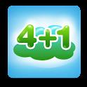 健康减肥4加1 logo