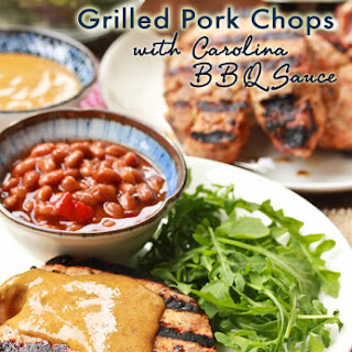 Grilled Pork Chops + Carolina BBQ Sauce