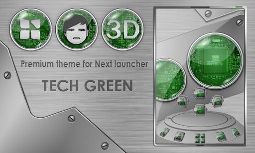 Next launcher theme TechGreen